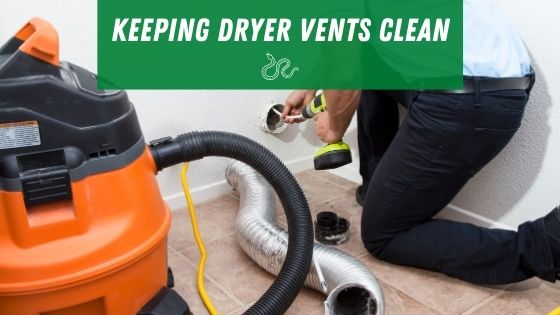Keeping your dryer vent clean