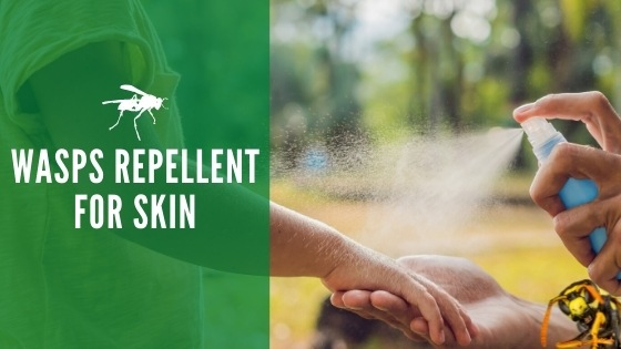Wasp repellent for skin
